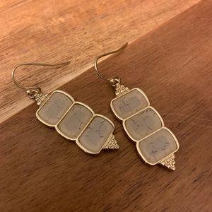 Shattered glass earrings